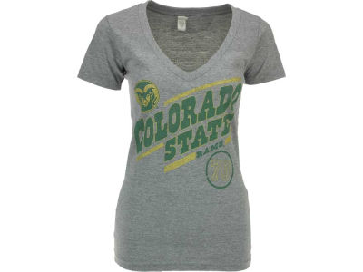 Colorado State Rams NCAA Womens Midsize Distressed Scoop Crew