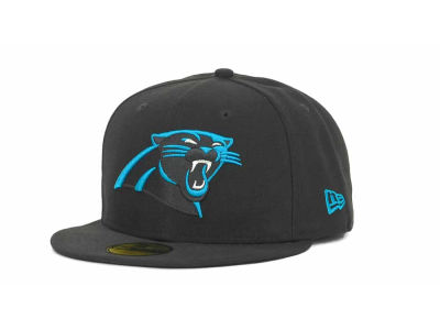 Carolina Panthers New Era NFL Black Team 59FIFTY Cap