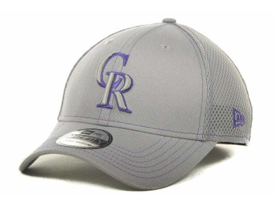 Colorado Rockies New Era MLB Gray Neo 39THIRTY Cap