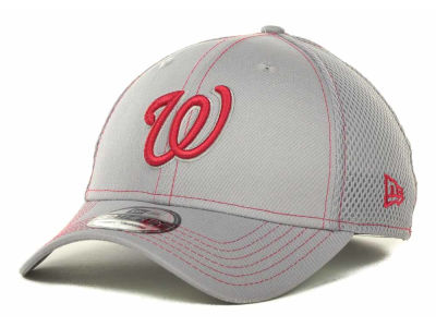 Washington Nationals New Era MLB Gray Neo 39THIRTY Cap