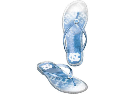 North Carolina Tar Heels Jelly Flip Flops Women NCAA