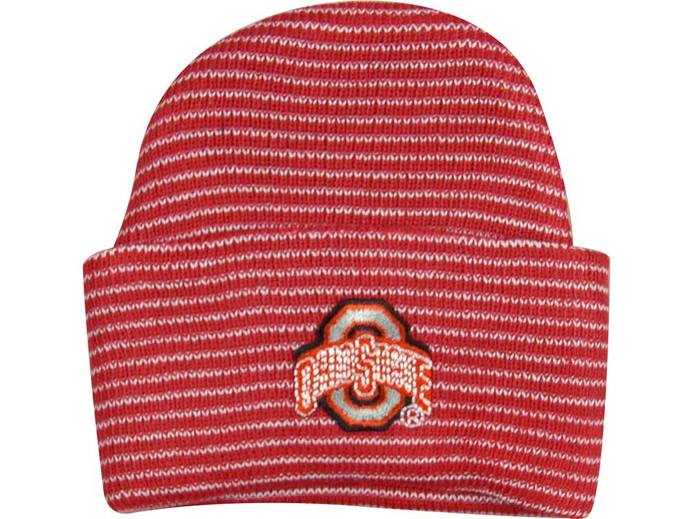 23aabc06226 Ohio State Buckeyes NCAA Newborn Stripe Knit Cap