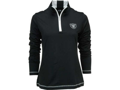 Oakland Raiders NFL Womens Drytec Choice Zip Mock