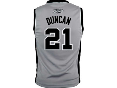 San Antonio Spurs Tim Duncan Youth NBA Revolution 30 Jersey