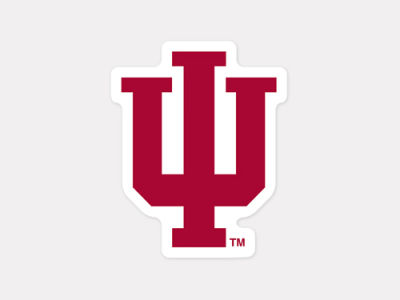 Indiana Hoosiers 4x4 Die Cut Decal Color