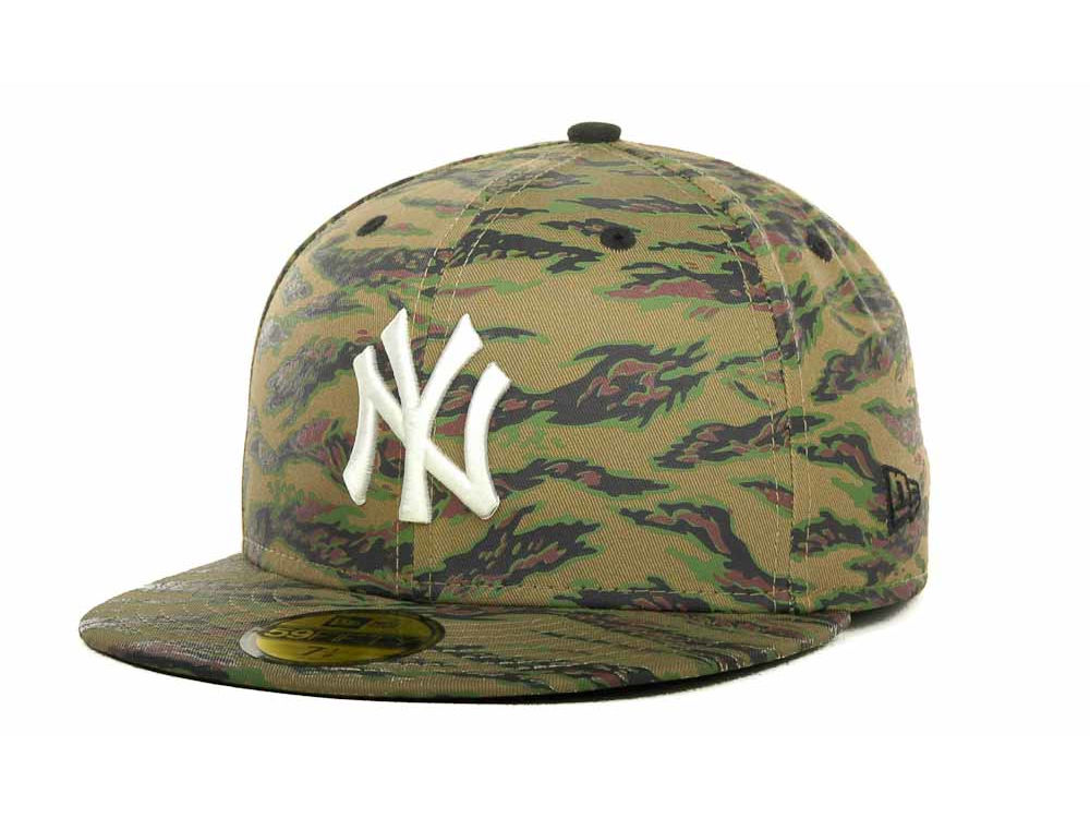 New York Yankees New Era MLB Tiger Camo 59FIFTY Cap  c8c190b09a36