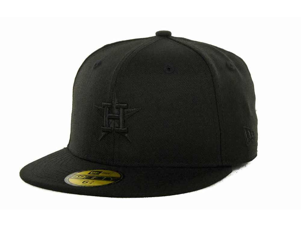7c9b903722f2 ... sale houston astros new era mlb black on black 59fifty cap 3bba8 c7021