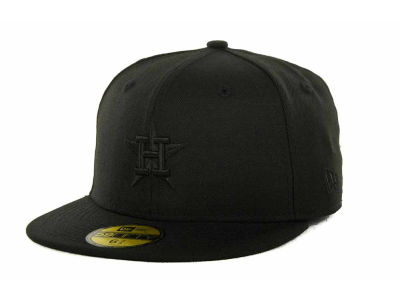 Houston Astros New Era MLB Black on Black 59FIFTY Cap