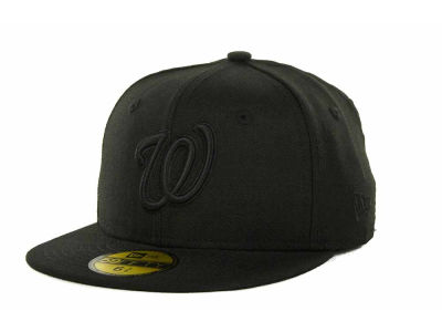 Washington Nationals New Era MLB Black on Black 59FIFTY Cap