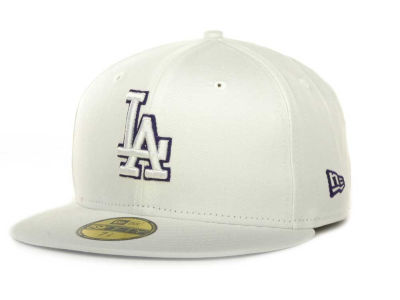 Los Angeles Dodgers New Era MLB White On Color 59FIFTY Cap
