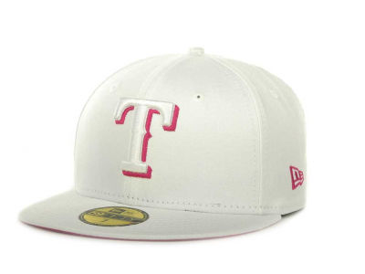 Texas Rangers New Era MLB White On Color 59FIFTY Cap