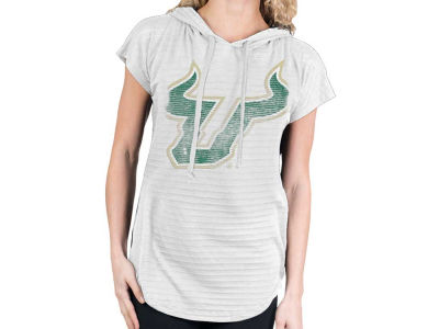 South Florida Bulls NCAA Womens So Fancy Burnout Hood T-Shirt