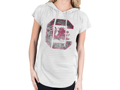South Carolina Gamecocks NCAA Womens So Fancy Burnout Hood T-Shirt