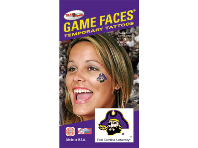 East Carolina Pirates Waterless Game Face Tattoo