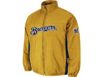 Milwaukee Brewers Majestic MLB Men's Double Climate On-Field Jacket
