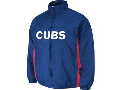 Chicago Cubs Majestic MLB Youth Double Climate On-Field Jacket