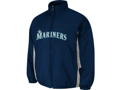 Seattle Mariners Majestic MLB Youth Double Climate On-Field Jacket