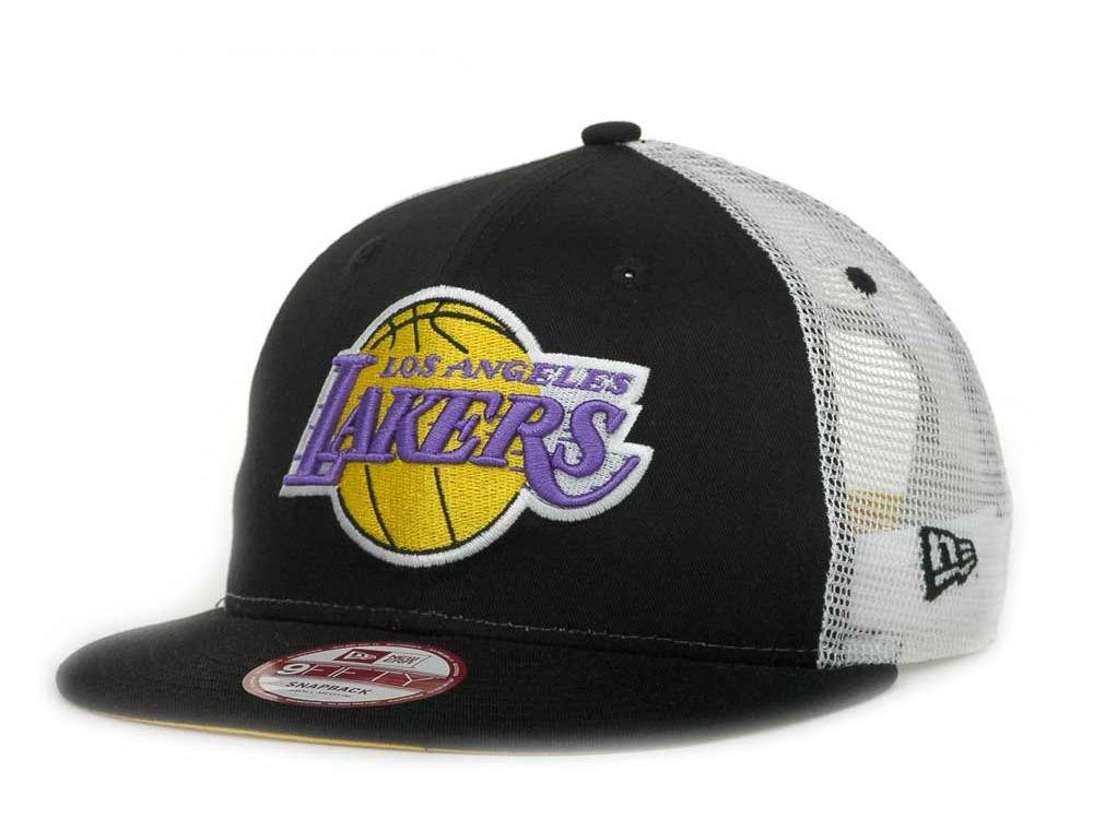 f877969cecd Los Angeles Lakers New Era NBA Hardwood Classics Mesh 4 9FIFTY Snapback Cap