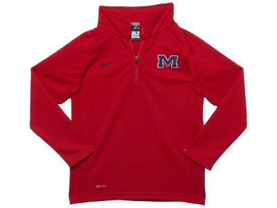 Ole Miss Rebels NCAA Youth Dri-Fit 1/4 Zip Pullover