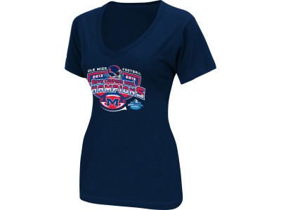 Ole Miss Rebels Blue 84 2012-2013 Women's UPS Bowl Champ T-Shirt