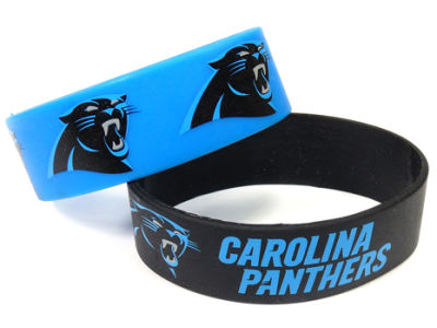 Carolina Panthers Aminco 2-pack Wide Bracelet