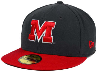 Maryland Terrapins New Era NCAA 2 Tone Graphite and Team Color 59FIFTY Cap