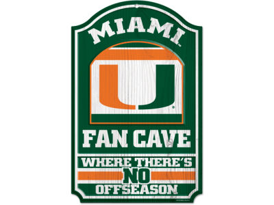 Miami Hurricanes 11x17 Wood Sign