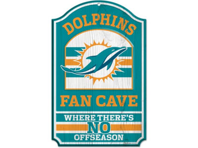 Miami Dolphins 11x17 Wood Sign