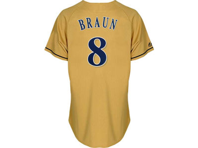 Milwaukee Brewers Ryan Braun Majestic MLB Youth Player Replica Jersey