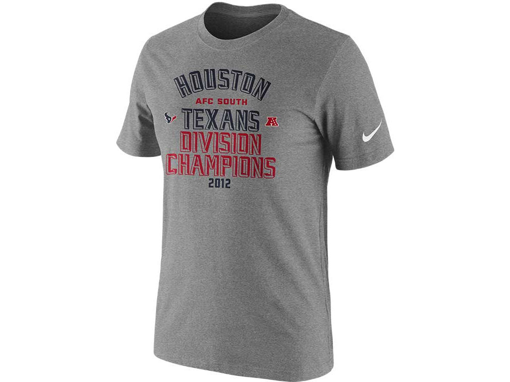 Houston Texans Nike NFL 2012 Division Champs T-Shirts  4be8a1ea5