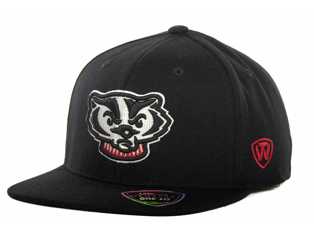 famous brand classic fit timeless design Wisconsin Badgers Top of the World NCAA Slam One-Fit Cap | lids.com