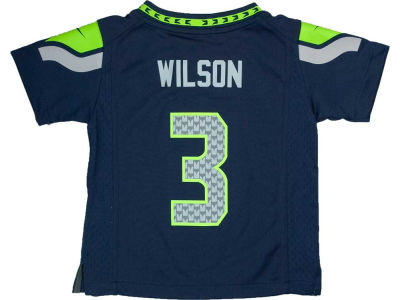 Seattle Seahawks Russell Wilson NFL Toddler Game Jersey