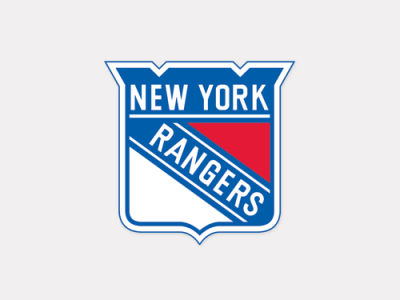 New York Rangers 4x4 Die Cut Decal Color