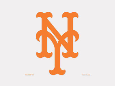 New York Mets 4x4 Die Cut Decal Color