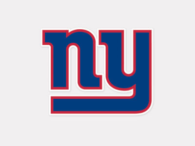 New York Giants 4x4 Die Cut Decal Color