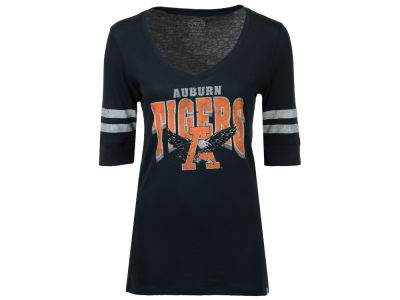 Auburn Tigers NCAA Womens Flanker Stripe T-Shirt