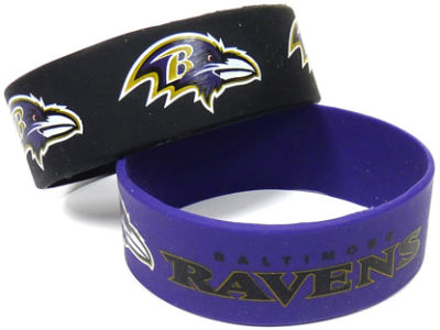 Baltimore Ravens 2-pack Wide Bracelet