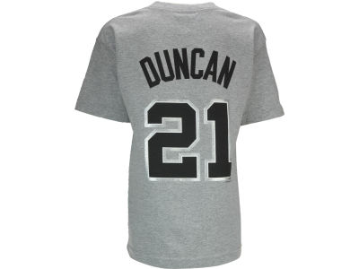 San Antonio Spurs Tim Duncan NBA Youth Name And Number T-Shirt