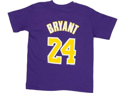 Los Angeles Lakers Kobe Bryant NBA Kids Name And Number T-Shirt