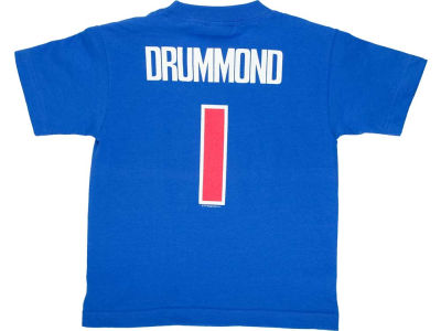 Detroit Pistons Andre Drummond NBA Kids Name And Number T-Shirt