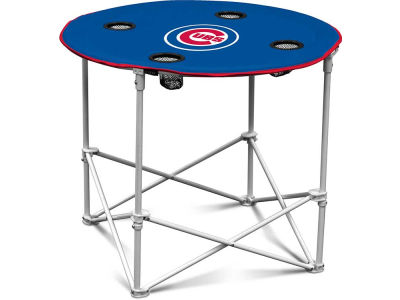 Chicago Cubs Logo Brands Folding Fabric Round Table
