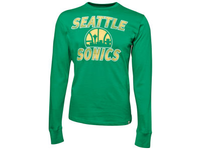 Seattle SuperSonics '47 NBA Over Under Long Sleeve Flanker T-Shirt