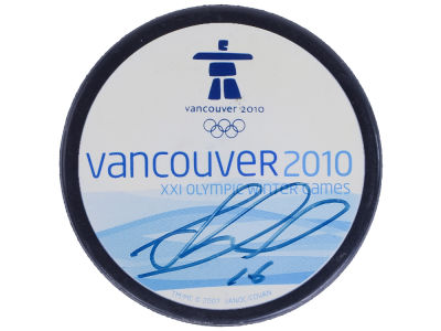 Chicago Blackhawks Jonathan Toews Autographed 2010 Olympics Puck