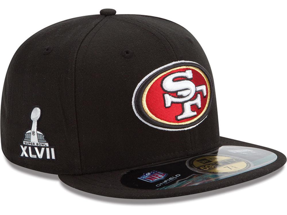 4db0fe1f5 San Francisco 49ers New Era NFL Super Bowl XLVII On Field Patch 59FIFTY Cap