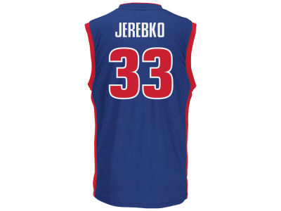 Detroit Pistons Jonas Jerebko Youth NBA Revolution 30 Jersey