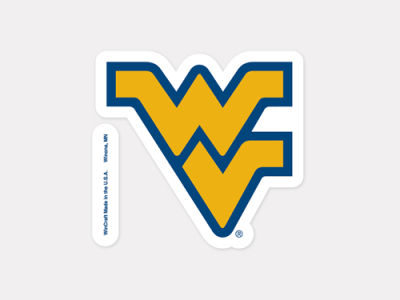 West Virginia Mountaineers 4x4 Die Cut Decal Color
