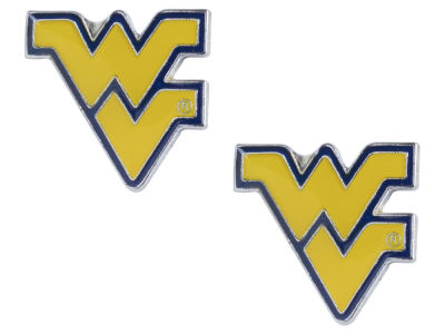 West Virginia Mountaineers Logo Post Earrings