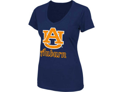 Auburn Tigers NCAA Womens Vegas V-Neck T-Shirt