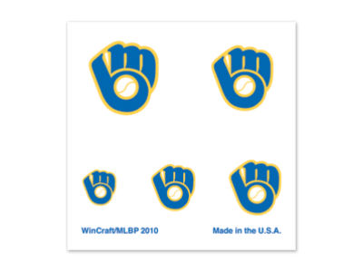 Milwaukee Brewers Tattoo Nail