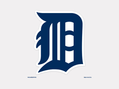 Detroit Tigers 4x4 Die Cut Decal Color